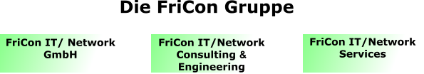 FriCon IT/ Network GmbH FriCon IT/Network Consulting & Engineering FriCon IT/Network Services  Die FriCon Gruppe
